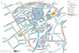 Canterbury England Map by Transport And Parking Blackburn