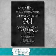 innovative surprise birthday party invitation wording given