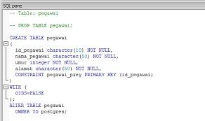 query membuat tabel di sql membuat table di postgresql tutorial dasar pemrograman database