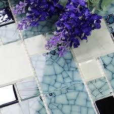 Glass Tiles Bathroom Crystal Glass Mosaic Kitchen Tiles Washroom Backsplash Bathroom