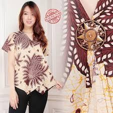 blouse wanita qoo10 big sale atasan blouse kemeja batik wanita women s