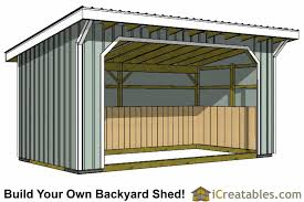 How To Build A Lean To Shed Plans by Run In Shed Plans Building Your Own Horse Barn Icreatables