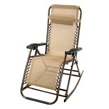 Patio Folding Chairs Partysaving Infinity Zero Gravity Rocking Chair Outdoor Lounge