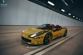 gold ferrari wallpaper golden ferrari 458 spider on vellano wheels autofluence