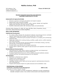 Project Manager Job Description For Resume by Resume For Project Manager Position