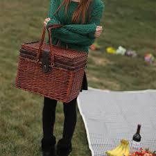 picnic basket set for 4 aliexpress buy vintage wicker picnic basket set for 4