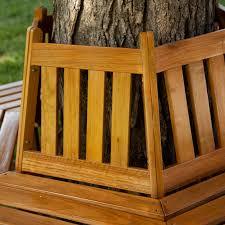 coral coast fillmore wood outdoor hexagonal tree bench hayneedle