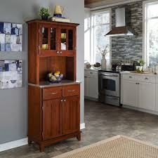 home styles cherry buffet with hutch 5100 0072 72 the home depot