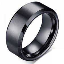 black rings images Buy mens titanium steel black ring simple rings for male wedding jpg