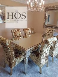 Mirrored Dining Room Table by The Sahara Bespoke Dining Set 6 Seater U2013 House Of Sparkles