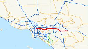map of pomona california california state route 60