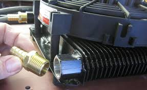 oil cooler with fan oil cooler fan kit 72 plate cooler w fan empi doghouse repair