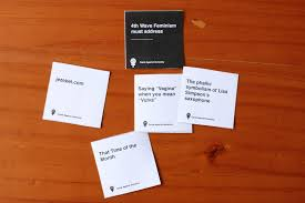 words against humanity cards feminist cards against humanity rayner