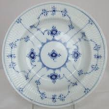 copenhagen blue fluted plain soup plate 8 25 1 168