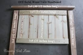 Making A Bed Headboard by Country Home How To Make A Solid Wood Twin Headboard