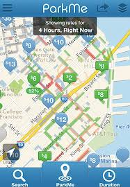 San Francisco Pier Map by App Provides S F Meter Private Garage Parking Information In