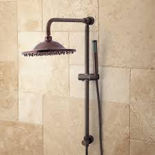 bostonian brass rainfall nozzle retrofit shower system with