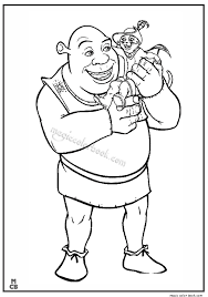 shrek coloring pages 33
