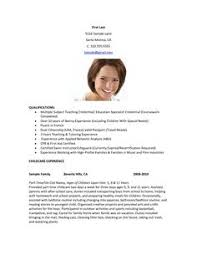 Babysitter Resume Examples by Babysitter Resume Sample Pinterest Resume Examples