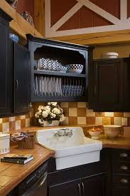 Black Kitchen Cabinet Ideas by Best 25 Corner Kitchen Sinks Ideas On Pinterest White Kitchen