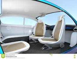 self driving car interior concept stock illustration image 70989840