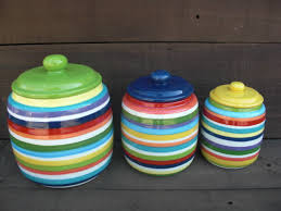 colorful kitchen canisters custom set kitchen canisters your colors and patterns