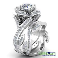 wedding ring sets for women eye catching women s 925 sterling silver lotus flower white topaz