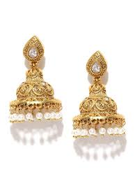 antique gold jhumka earrings apparel accessories jewellery panash jewels