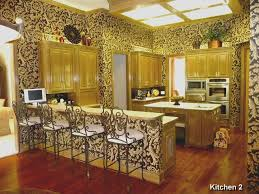 eclectic kitchen with raised panel u0026 kitchen island in flower