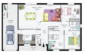 plan maison 3 chambres plain pied garage plan maison plain pied 3 chambres 1 bureau awesome plan maison avec