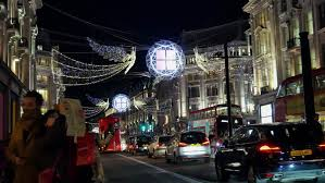 Christmas Decorations Oxford Street - uk england london oxford street christmas decorations on