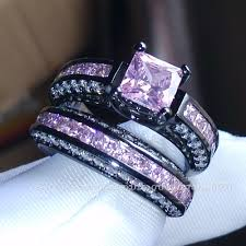 black and pink wedding ring sets wedding rings zales jewelry outlet diamond rings tungsten