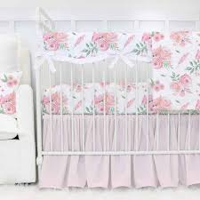 Floral Crib Bedding Sets Floral Crib Bedding Baby Flower Bedding Caden
