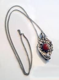 silver bottle necklace images Vintage ornate silver diamond perfume bottle necklace from my jpg