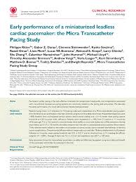 early performance of a miniaturized leadless cardiac pacemaker