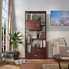 Bookcase Wall Bookcases With Doors You U0027ll Love Wayfair