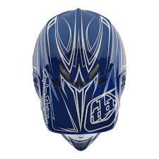 blue motocross helmets troy lee designs se4 polyacrylite off road racing motorcycle mx