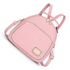 light pink leather backpack spring small women backpacks bags for backpacks for teenage