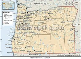 political map of oregon map of oregon stock photos map of oregon stock images alamy