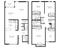Town Houses Floor Plans Townhome Floor Plans House Plans