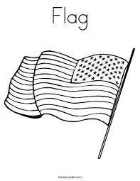 Flag Coloring Page Twisty Noodle Flag Color Page