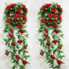home decoration flowers artificial rose garland flower vine ivy home decor wed direct