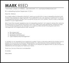 Sample Underwriter Resume by Underwriting Assistant Cover Letter Sample Livecareer