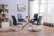 Circular Glass Dining Table And Chairs Glass Dining Table And Chairs Ebay