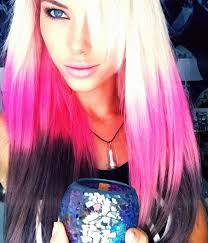 2015 wend hair colour blonde pink and black dyed hair colorful hair pinterest