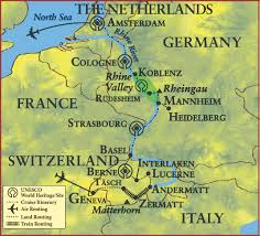 France Germany Map by Uk Alumni Association Great Journey Through Europe