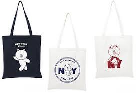 eco bag line friends new york edition eco bag brown choco cotton tote