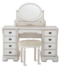 bedroom furniture retro white wooden polished vanity mirrored