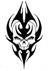 skull tribal by biomek on deviantart