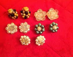 what are clip on earrings vintage earrings etsy